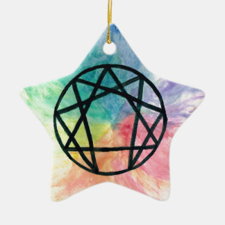 Colorful Enneagram Christmas Ornament