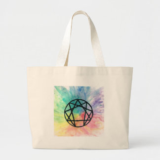 Colorful Enneagram Large Tote Bag