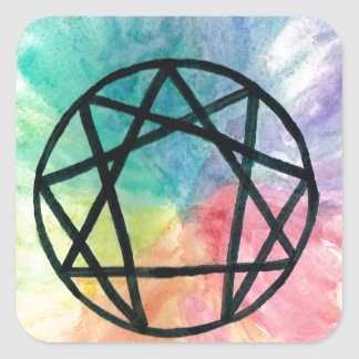 Colorful Enneagram Square Sticker