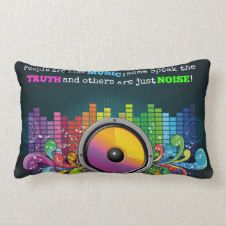 Colorful Equalizer People Are Like Music Quote Lumbar Cushion