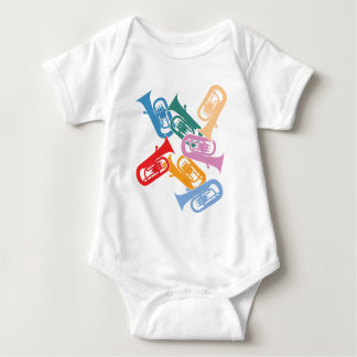 Colorful Euphoniums Baby Bodysuit