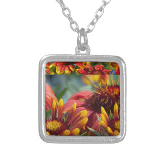 Colorful Exotic Flower Show : Greetings Blessings Personalized Necklace
