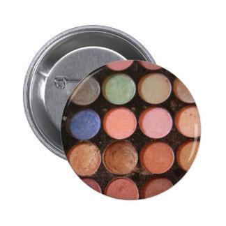 Colorful eyeshadows 6 cm round badge