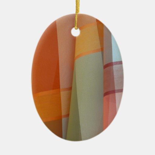 Colorful Fabric Christmas Tree Ornament
