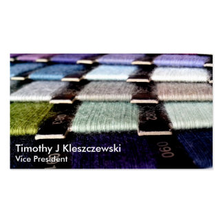 Colorful Fabric Thread Swatches Pack Of Standard Business Cards