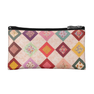 Colorful Fabrics Pattern Cosmetic Bag