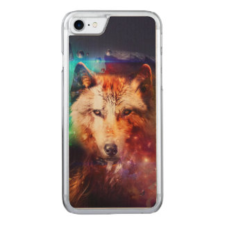 Colorfulface wolf carved iPhone 8/7 case