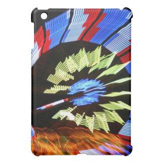 Colorful fair ride design, neon colors on black #1 case for the iPad mini