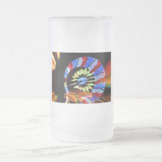 Colorful fair ride design, neon colors on black #1 mugs