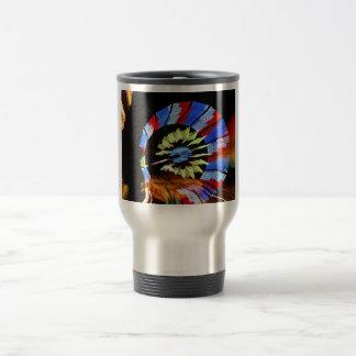 Colorful fair ride design, neon colors on black #1 coffee mugs