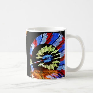 Colorful fair ride design, neon colors on black #1 coffee mug