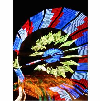 Colorful fair ride design, neon colors on black #1 photo sculpture badge