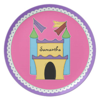 Colorful Fairytale Castle Custom Plate