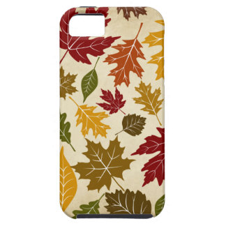 Colorful Fall Autumn Tree Leaves Pattern iPhone 5 Covers