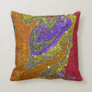 Colorful Fall Bouquet Box Design Throw Cushion