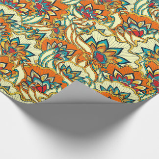 Colorful Fall Floral Wrapping Paper