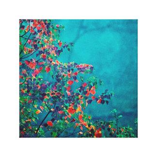 Colorful Fall Foliage in Beautiful Gemstone Colors Canvas Print