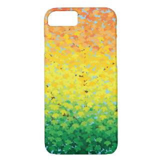 Colorful Fall Foliage Maple Leaves Ombre iPhone 8/7 Case