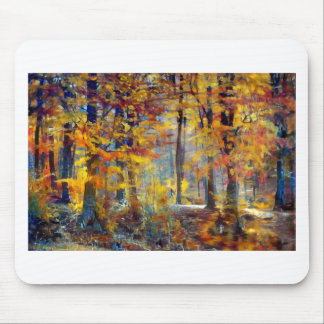 Colorful fall forest mouse mat