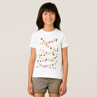 Colorful fall leaf strings T-Shirt
