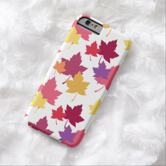 Colorful Fall Leaves Autumnal Pattern Barely There iPhone 6 Case