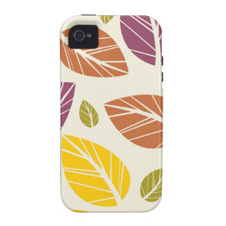 Colorful Fall Leaves Purple Maroon Yellow Green iPhone 4/4S Case