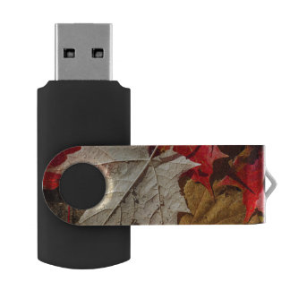 Colorful Fall Maple Leaves Floating USB Flash Drive