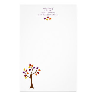 Colorful Fall Tree Stationery