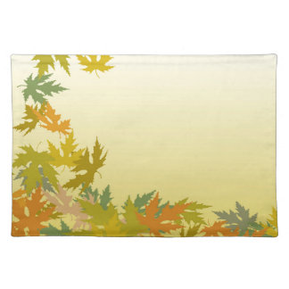 Colorful Falling Autumn Leaves Placemat