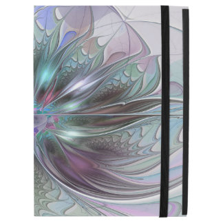 """Colorful Fantasy Abstract Modern Fractal Flower iPad Pro 12.9"""" Case"""