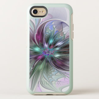 Colorful Fantasy Abstract Modern Fractal Flower OtterBox Symmetry iPhone 8/7 Case