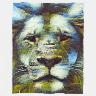 Colorful Fantasy Earth Lion Fleece Blanket