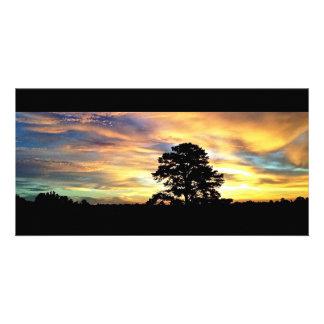 Colorful Farm Sunrise Card Photo Card