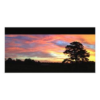 Colorful Farm Sunrise Card Photo Greeting Card