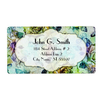 Colorful Fashion Rustic Rose Shipping Label
