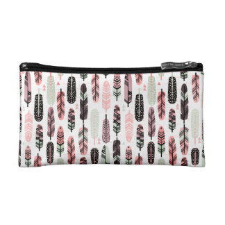 Colorful Feathers Cosmetic Bag (Small)