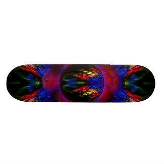 Colorful Feathers Skate Board
