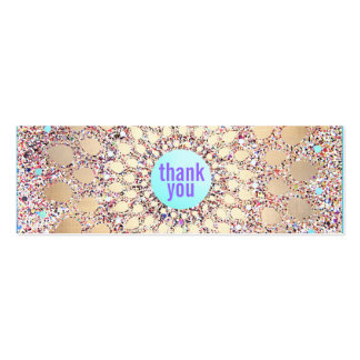 Colorful Festive Glitter Purple Thank You Insert Pack Of Skinny Business Cards