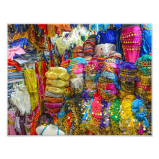 Colorful Fez Hats and Slippers Clothing Photo Art