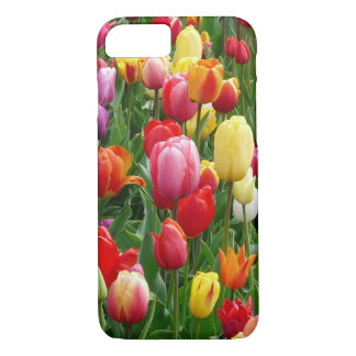Colorful Field Of Tulips Flowers iPhone Case
