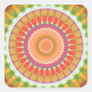 Colorful Fiesta Kaleidoscope Stickers
