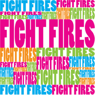 Colorful Fight Fires Photo Cut Out