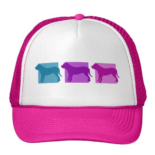 Colorful Fila Brasileiro Silhouettes Mesh Hats