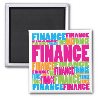 Colorful Finance Square Magnet