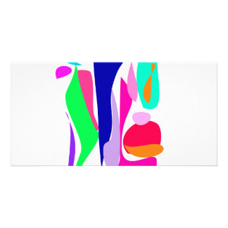 Colorful Fire Picture Card
