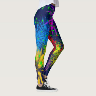 Colorful fireworks funny unique leggings