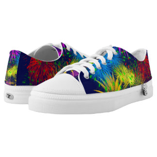Colorful fireworks funny unique low tops