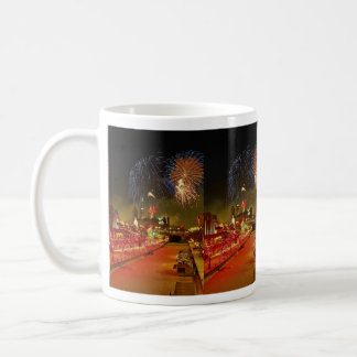 Colorful fireworks on New Year's Eve Coffee Mugs