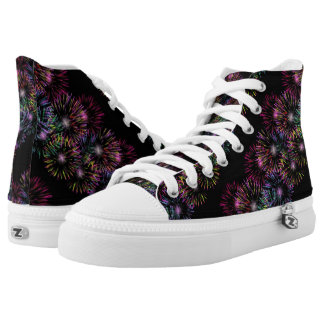 Colorful Fireworks Pattern High Tops