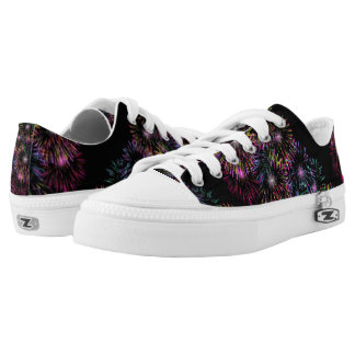 Colorful Fireworks Pattern Low Tops